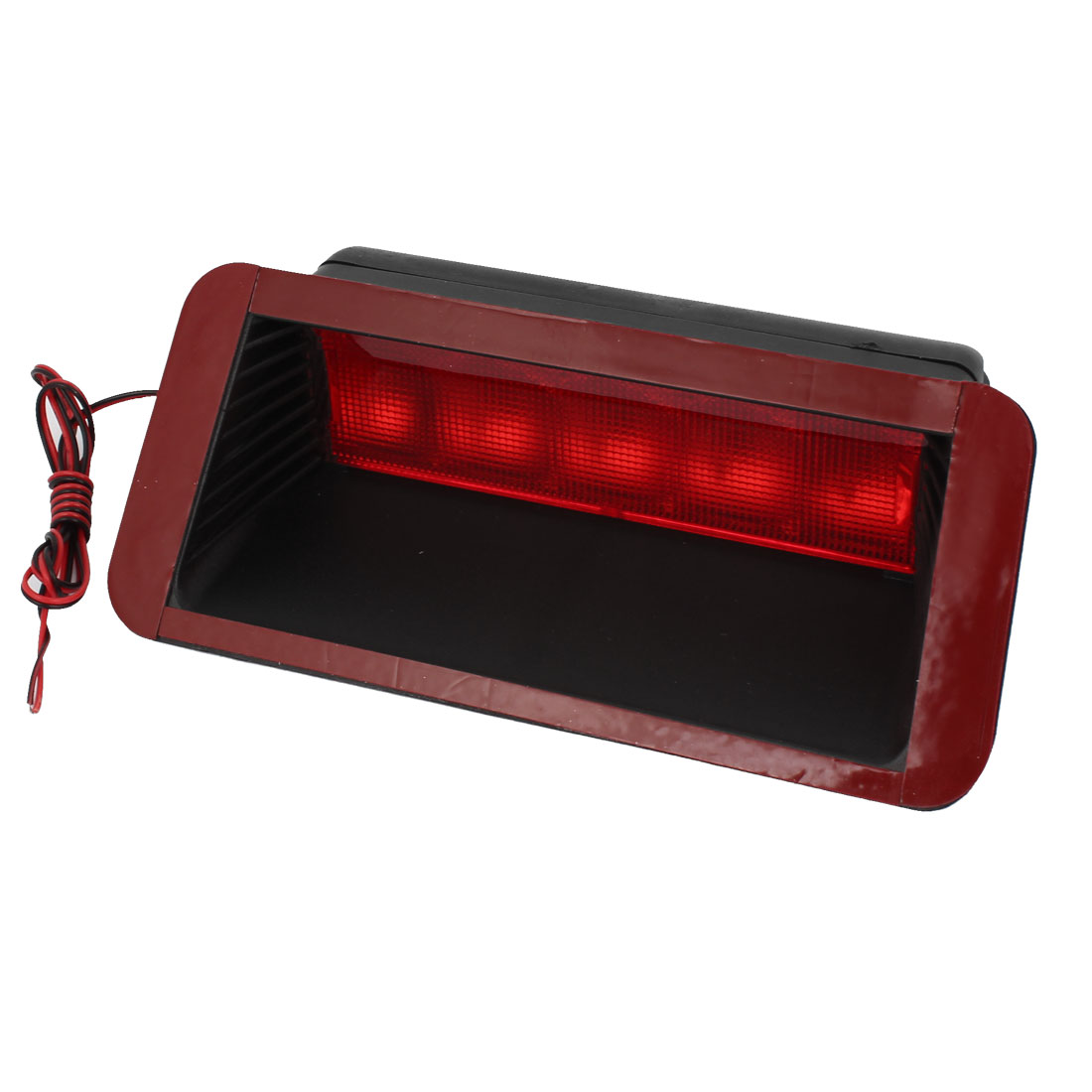 12V Black Plastic Casing Rear Red 5 LED Brake Light Reverse Lamp for Vehicle Car