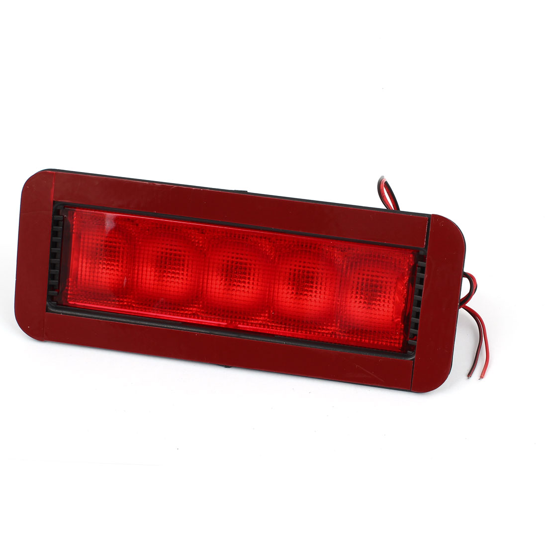 Auto Car Black Plastic Casing 5 LED Rear Brake Light Reversing Lamp DC 12V
