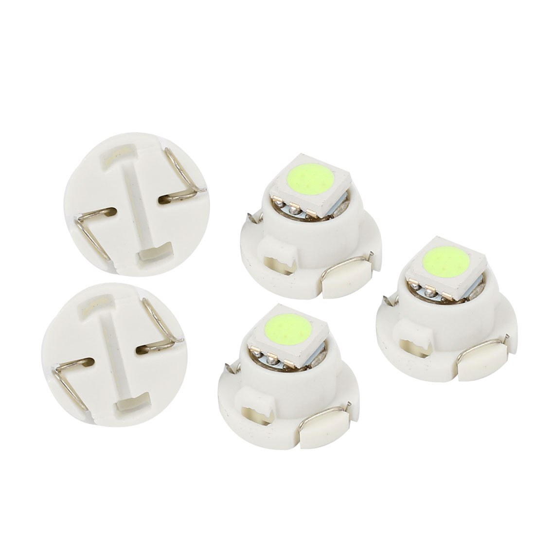 5 Pcs 5050 SMD T4.7 Wedge LED Instrument Light Map Lamp Ice Blue 12V Internal