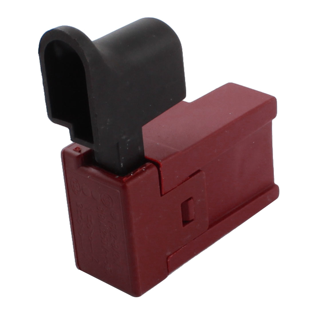 Black Red Plastic AC 250V 8A Electric Tool DPST Momentary Trigger Switch