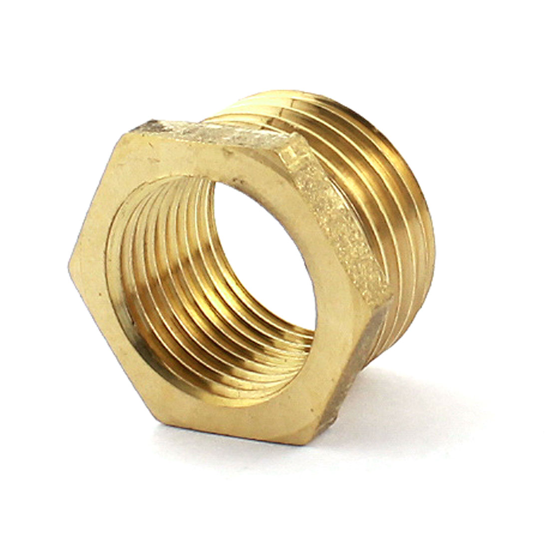 1/2 PT Male to 1/4 PT Female Hex Threaded Bushing Piping Connector Coupling