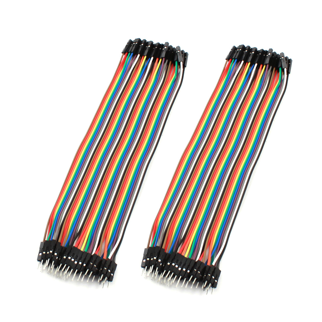 2pcs 40P-40P Female to Male Breadboard Connect Test Jumper Cable Wire 20cm