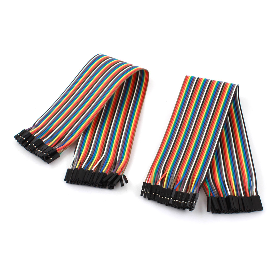 2 Pcs 1P-1P Female to Female Breadboard Connect Test Jumper Cable Wire 30cm