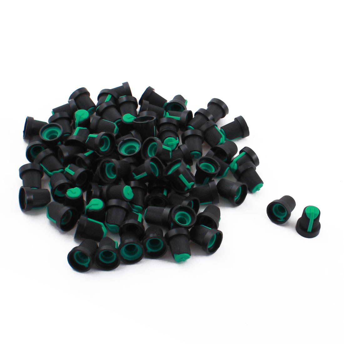 80 Pcs Plastic 5.5mm Knurled Shaft Taper Volume Knob Cap for Potentiometer Pot