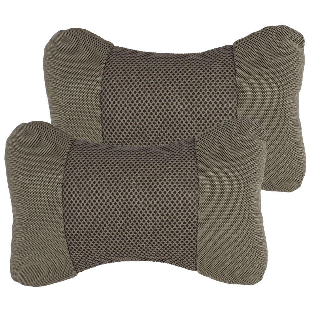 Pair Auto Car Bone Shape Stretchy Belt Sponge Padded Neck Pillow Pads Gray