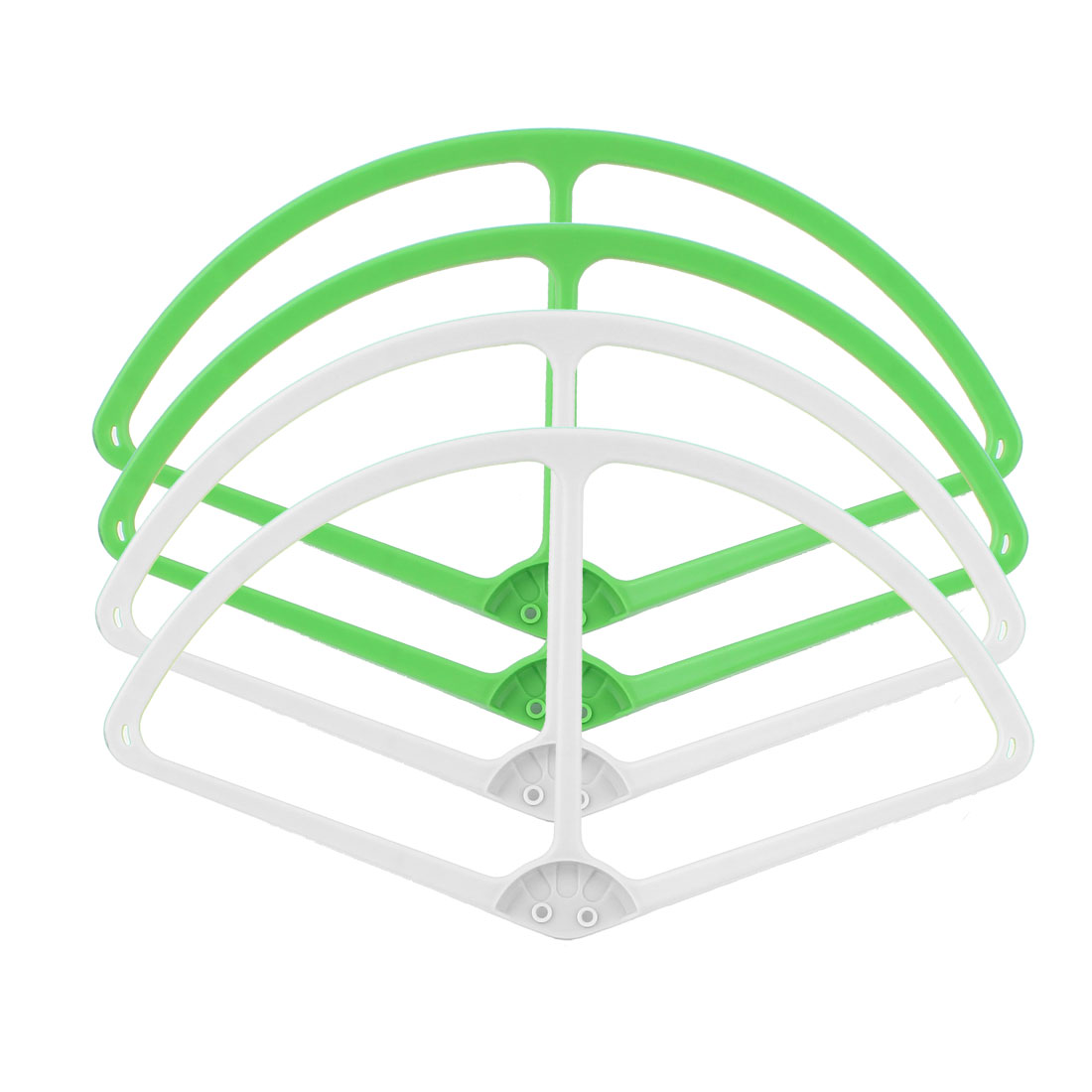 "9"" Propeller Vane Protective Guard Bumper Set Green White for DJI Phantom 2 Vision"