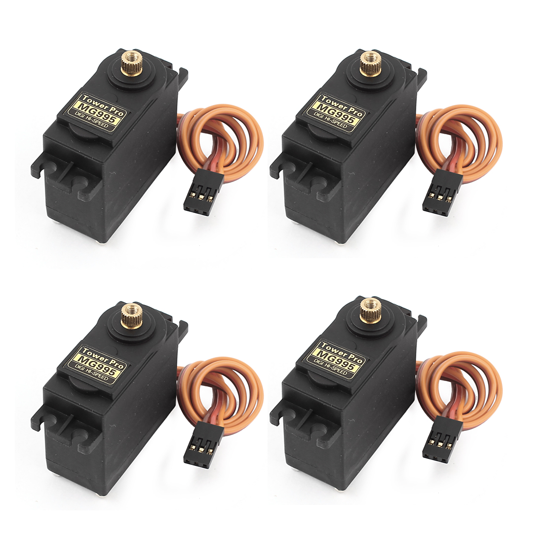 4pcs MG995 Hi-Speed Torque Metal Gear Servo + Horns for RC Airplane Boat Car