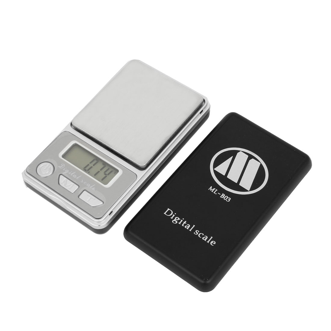 100g x 0.01g Jewelry Weight Balance Digital Pocket Scale Silver Tone