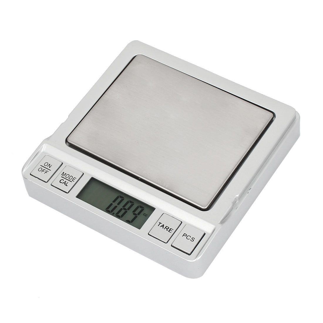 0.1g 500g Jewelry Weight Balance Mini Digital Pocket Scale Silver Tone