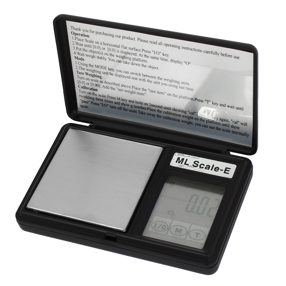 Flip Open 0.01g x 100g Jewelry Weight Balance Digital Pocket Scale Black