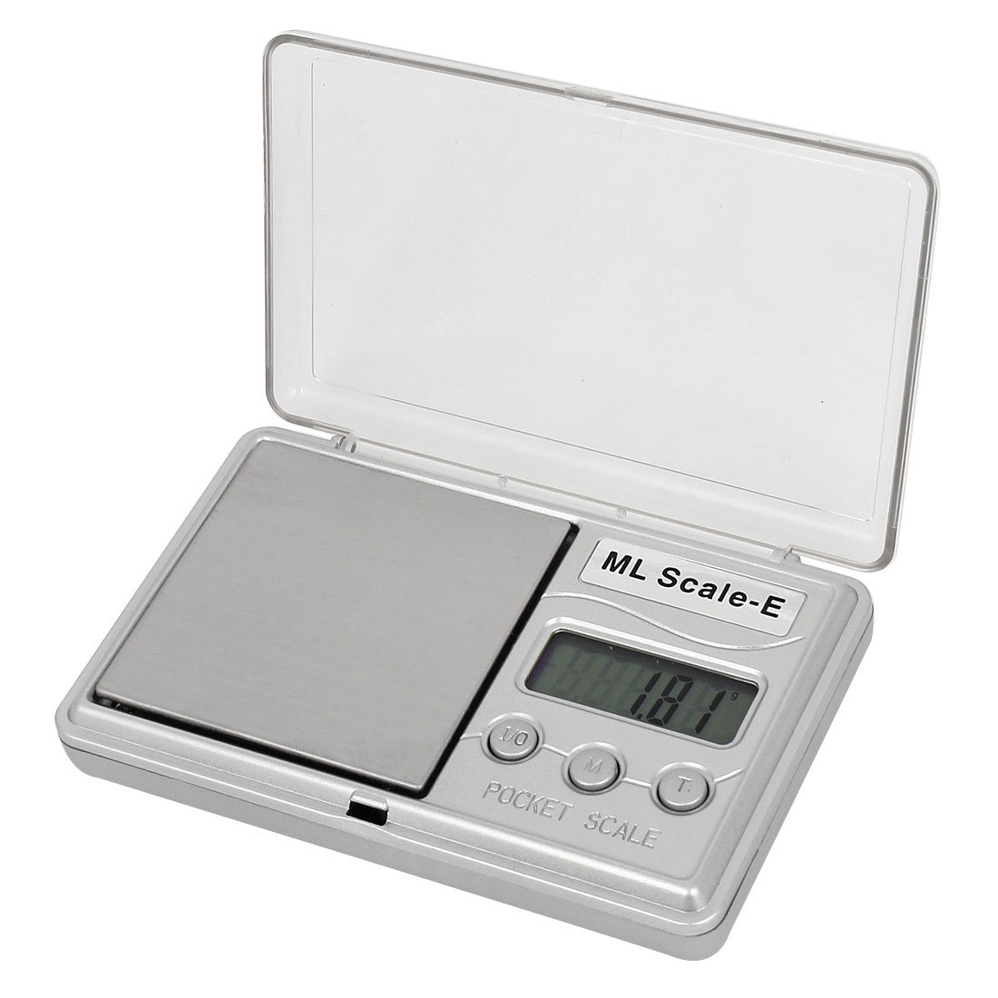 Clear Cover 0.01g x 100g Jewelry Weight Balance Digital Pocket Scale Silver Tone