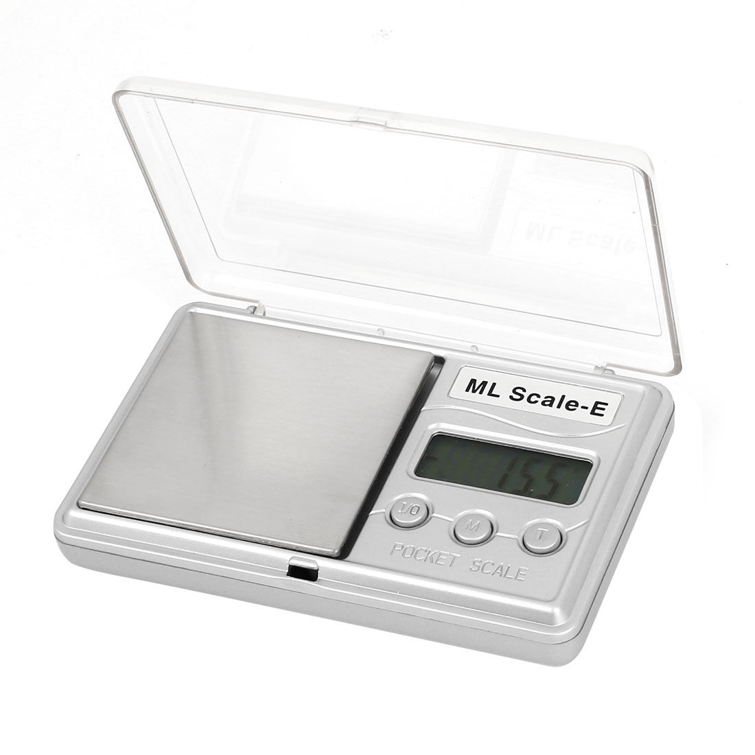 Clear Cover 0.1g x 500g Jewelry Weight Balance Digital Pocket Scale Silver Tone