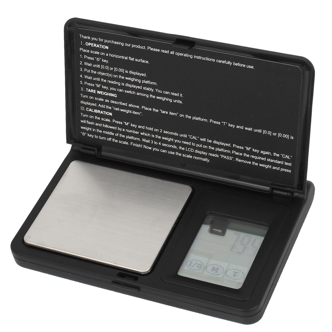 Rectangular 0.01g 100g Jewelry Weight Balance Mini Digital Pocket Scale Black