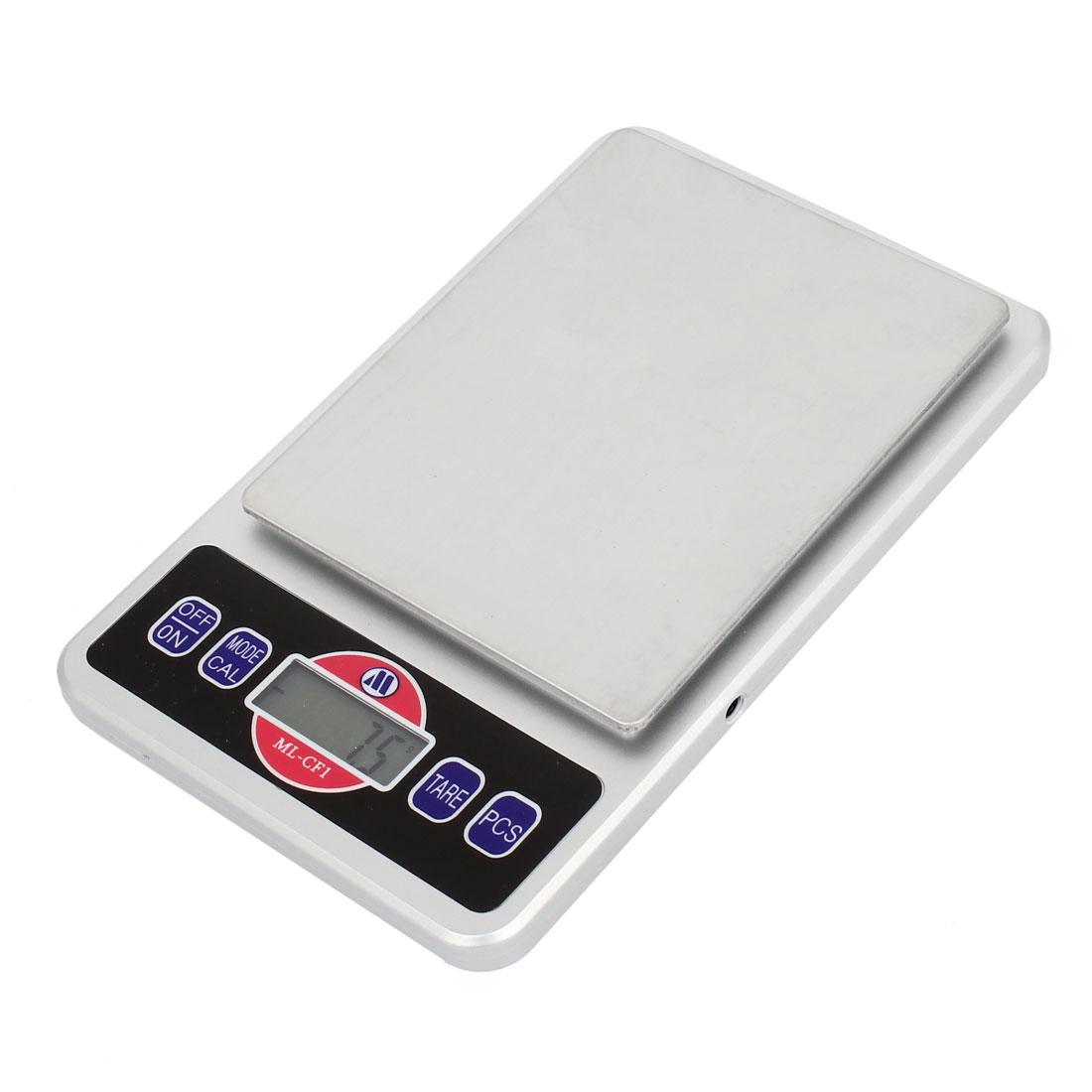 0.1g x 2000g Jewelry Weight Balance Digital Pocket Scale Silver Tone