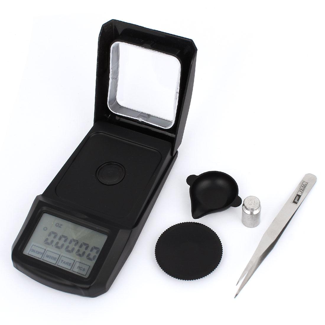 Handy 0.001g x 20g Jewelry Weight Balance Digital Pocket Scale Black