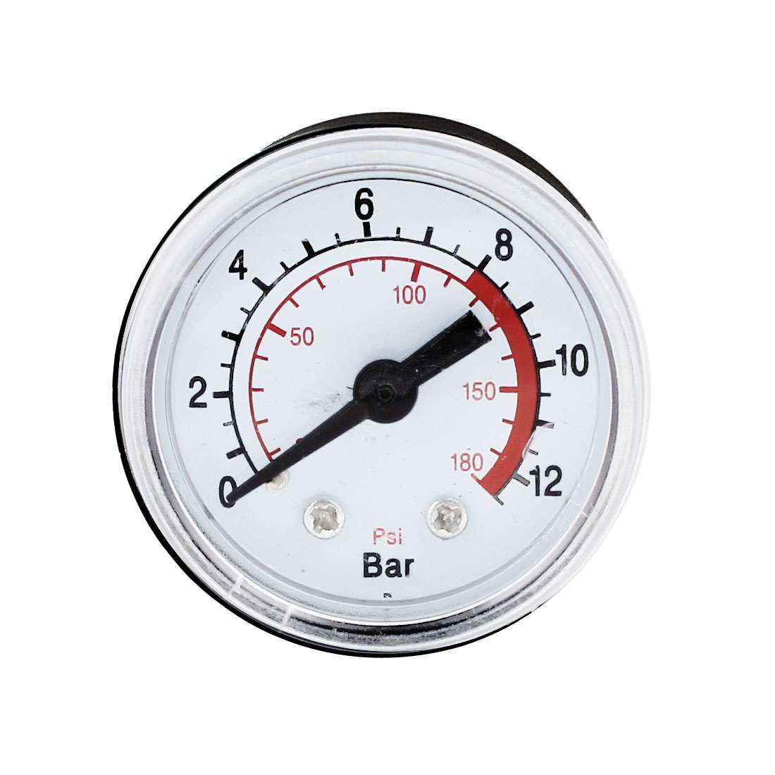 Black Clear Case Air Compressor 1/8 PT Male Threaded 0-180PSI 0-12Kg/cm2 Pressure Measuring Gauge