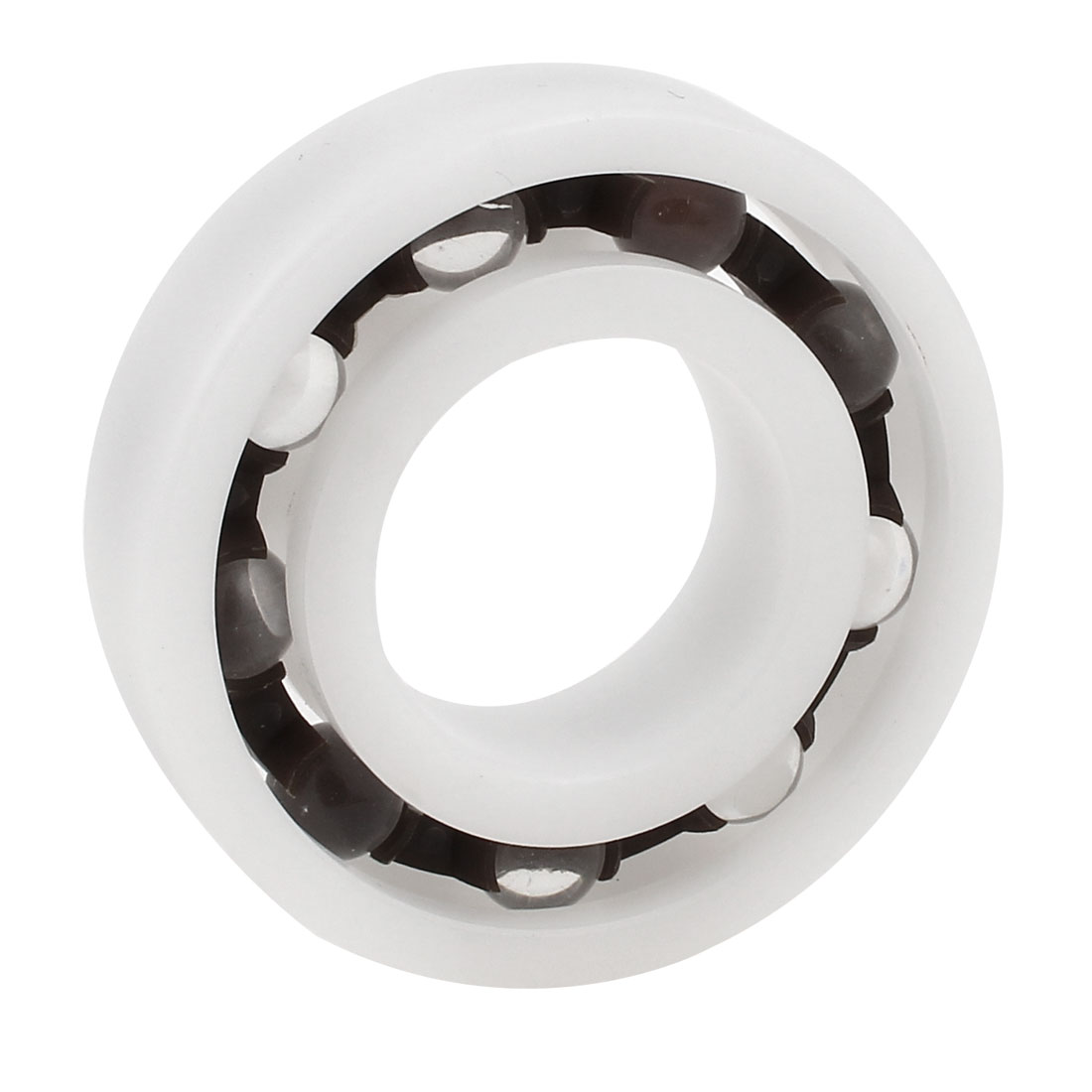 White POM Plastic Glass Single Row Deep Groove Radial Ball Bearing 30mm x 62mm x 16mm