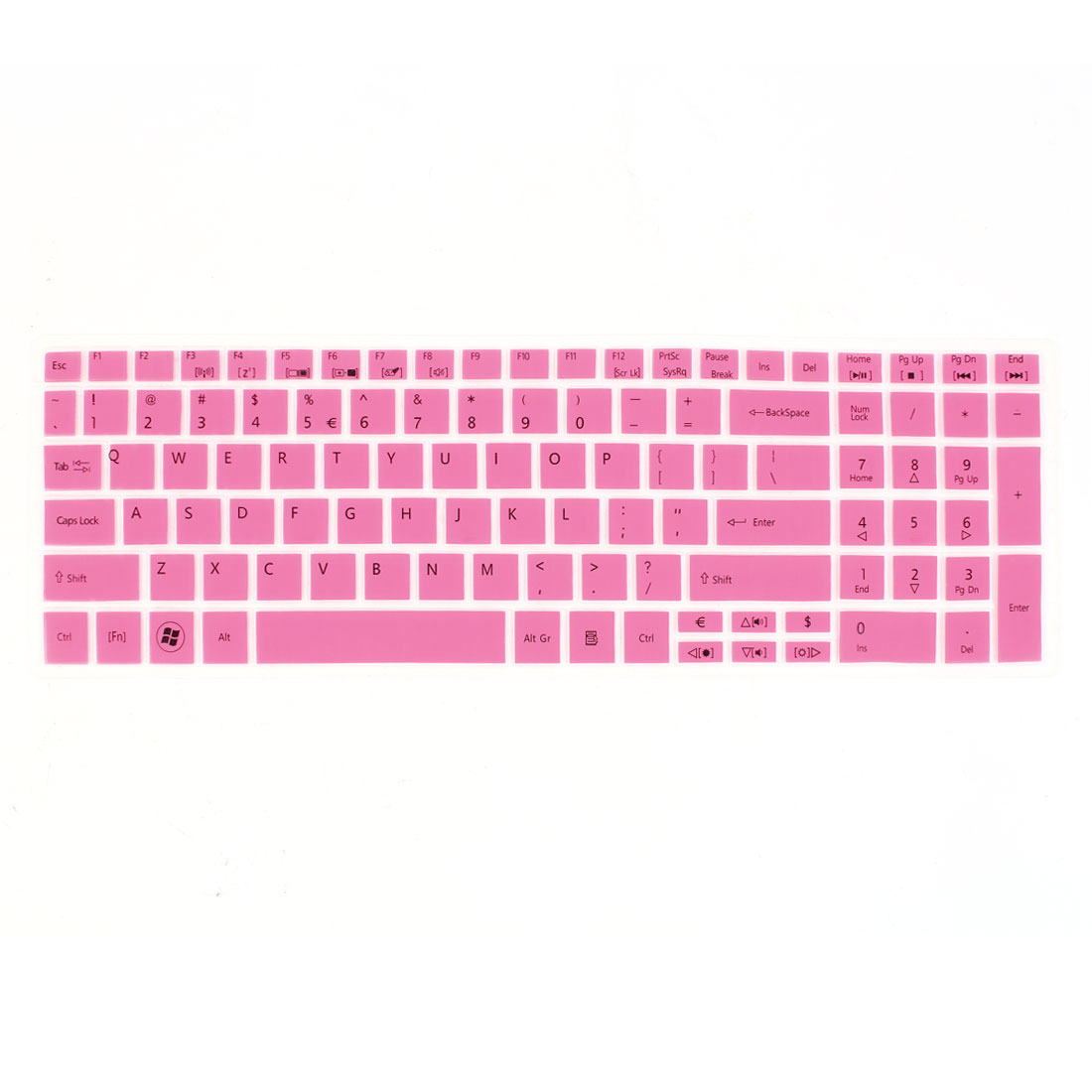 Pink Clear Letter Printed Silicone PC Desktop Computer Keybord Film Protector