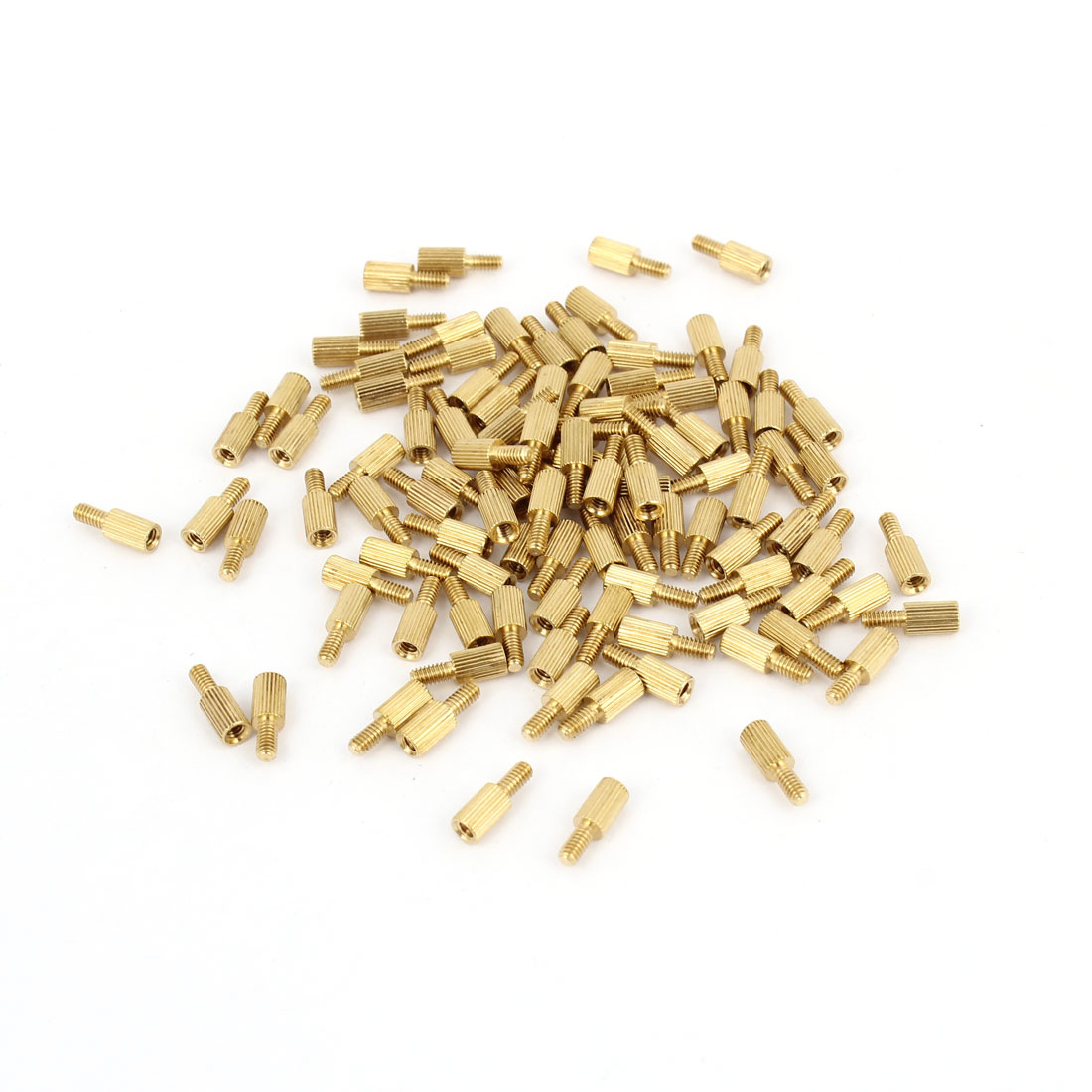 100Pcs Male to Female Thread PCB Board Brass Pillars Standoff M2x5mm