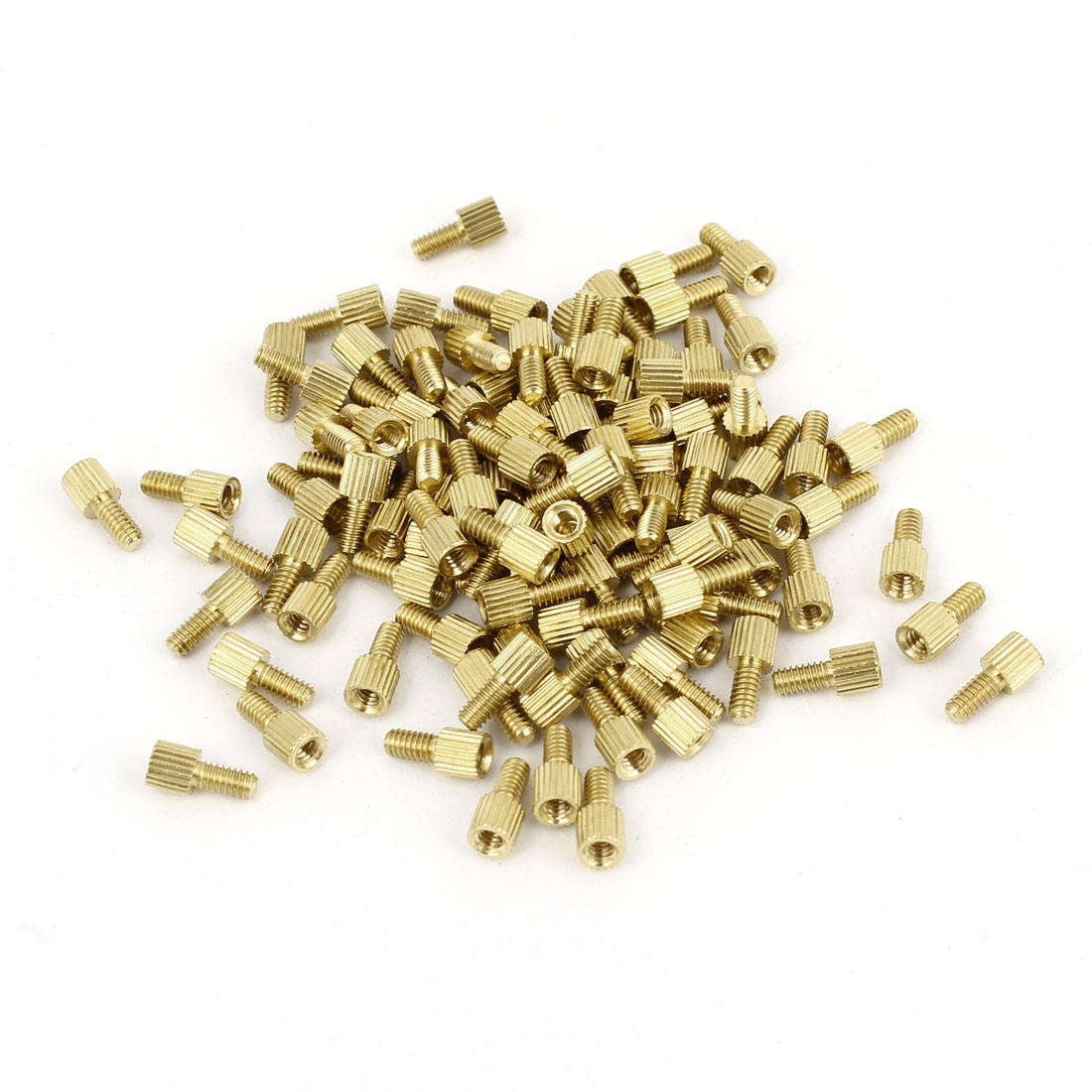 100Pcs Male to Female Thread PCB Board Brass Pillars Standoff M2x3mm