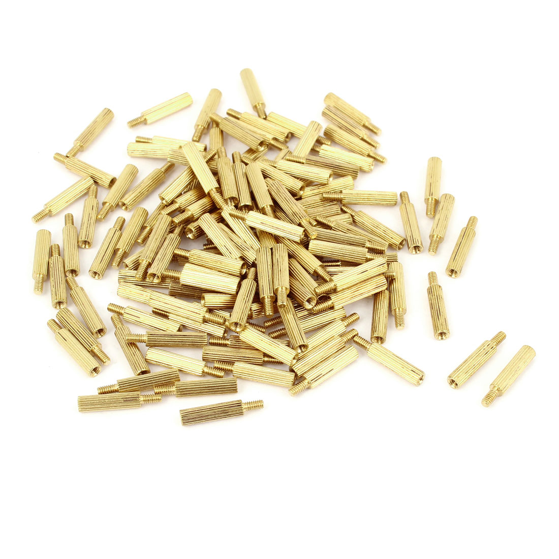 100Pcs Male to Female Thread PCB Board Brass Pillars Standoff M2x12mm