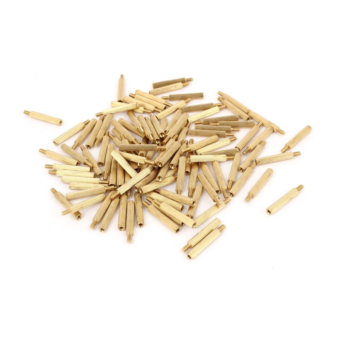 100Pcs Male to Female Thread PCB Board Brass Pillars Standoff M2x17mm