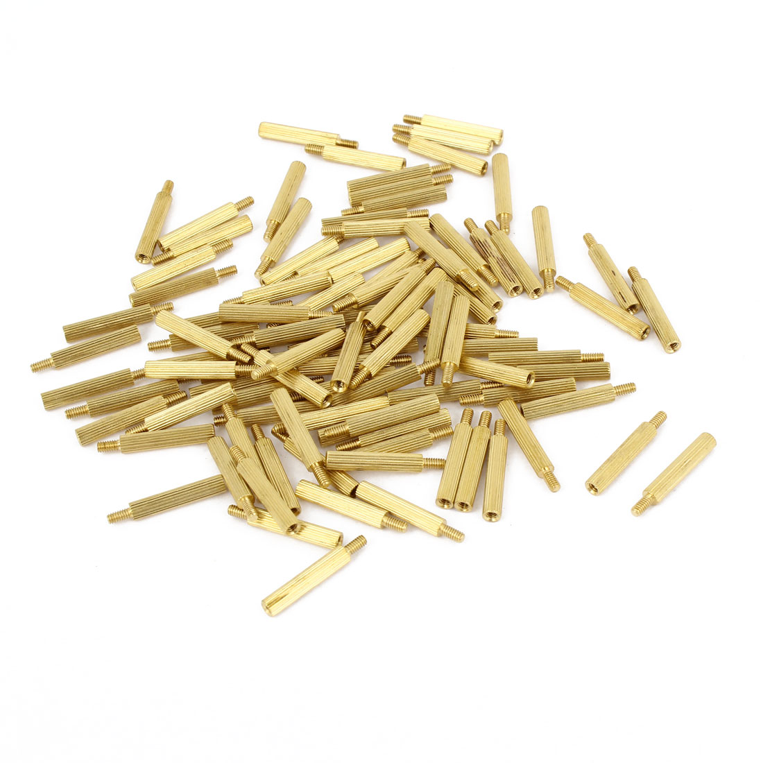 100Pcs Male to Female Thread PCB Board Brass Pillars Standoff M2x16mm
