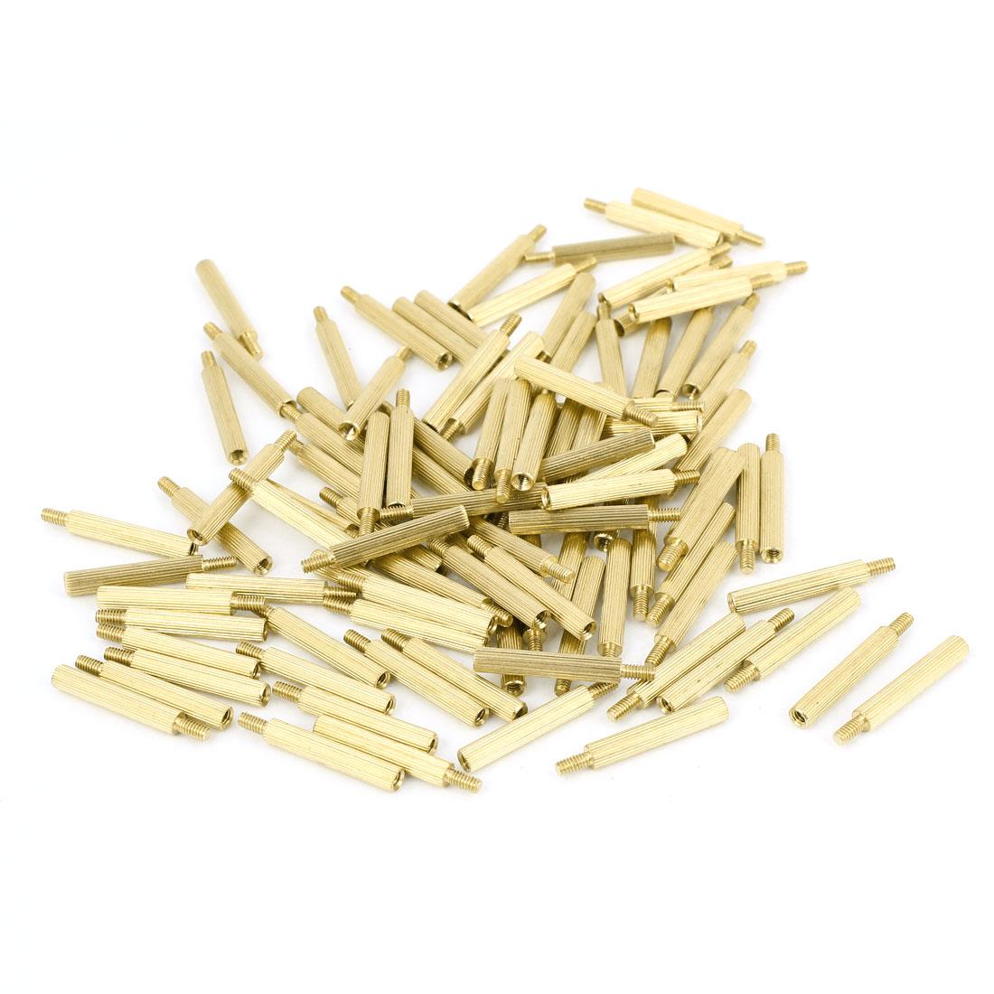 100Pcs Male to Female Thread PCB Board Brass Pillars Standoff M2x18mm