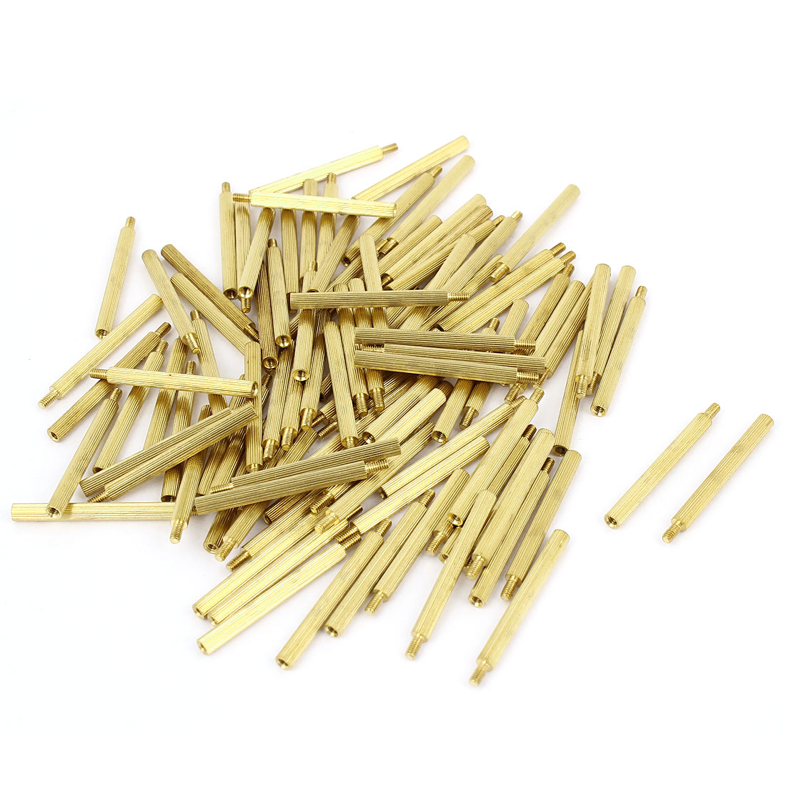 100Pcs Male to Female Thread PCB Board Brass Pillars Standoff M2x30mm