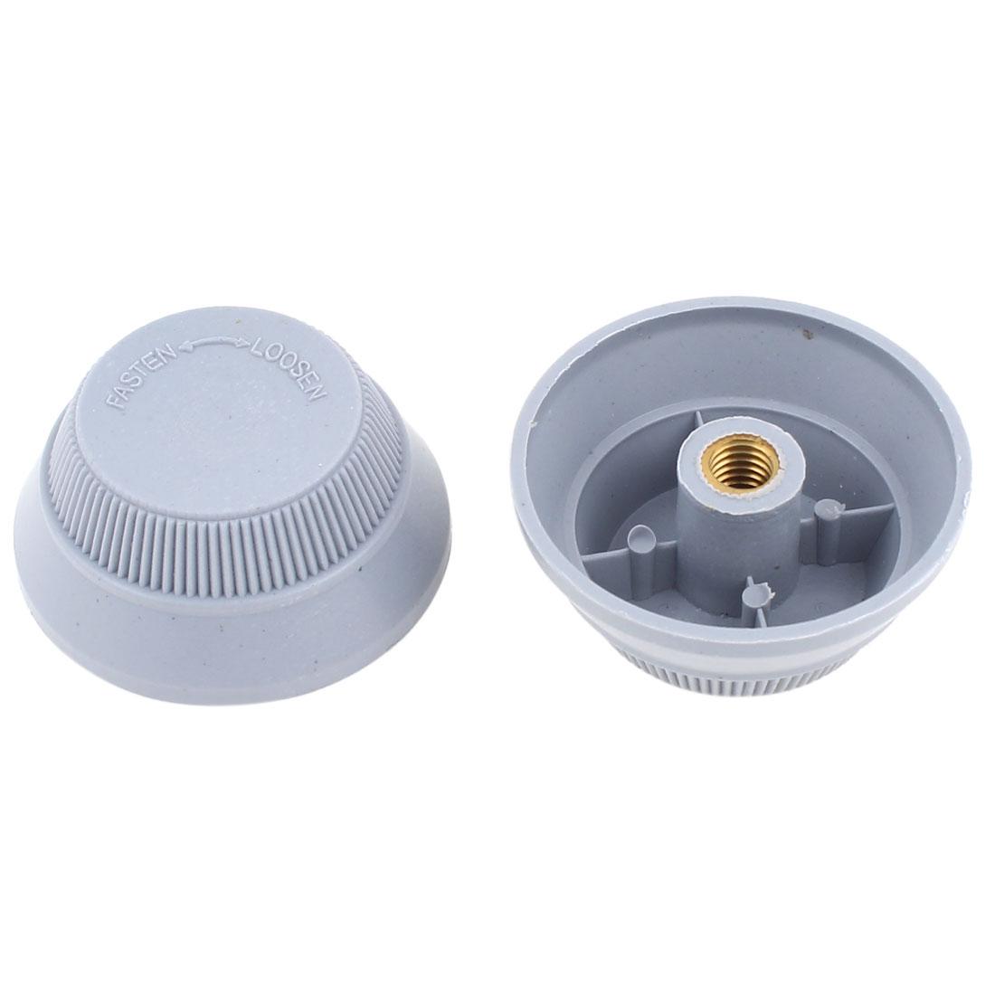 2Pcs Female Type 51mm Dia Gray Plastic Electric Fan Lock Nut