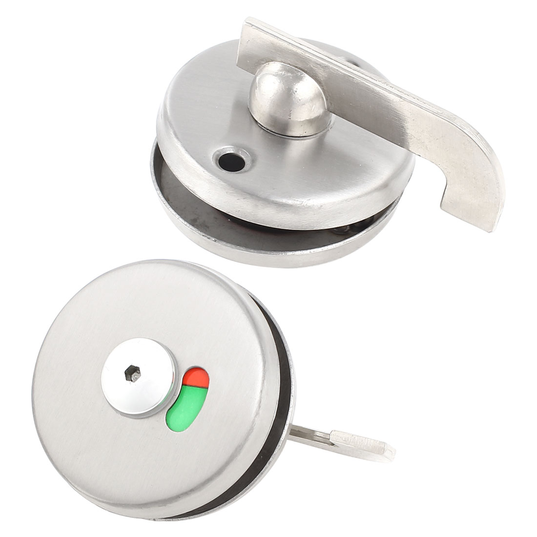 Silver Tone Stainless Steel Household Doorknob PublicToilet Door Lock