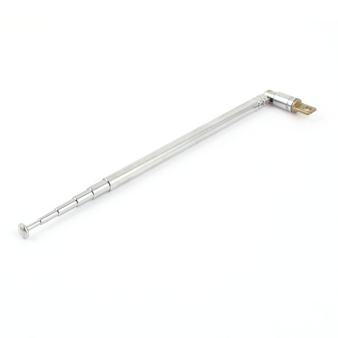 13.5cm to 50cm 6 Sections Telescoping Antenna Aerial Silver Tone for AM Radio TV
