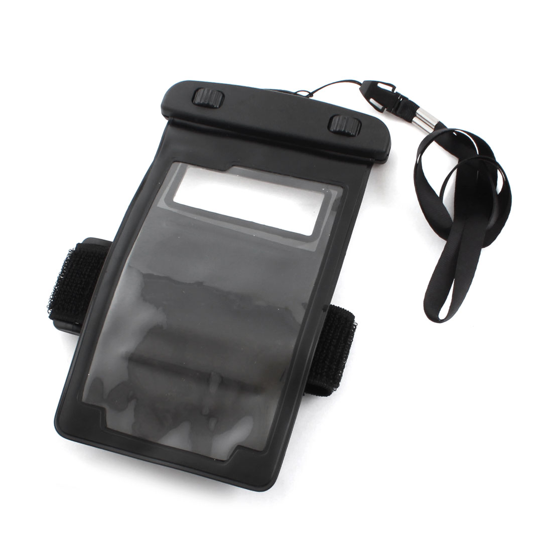 Black Waterproof Mobile Phone Pouch Dry Bag Case w Neck Strap Armband