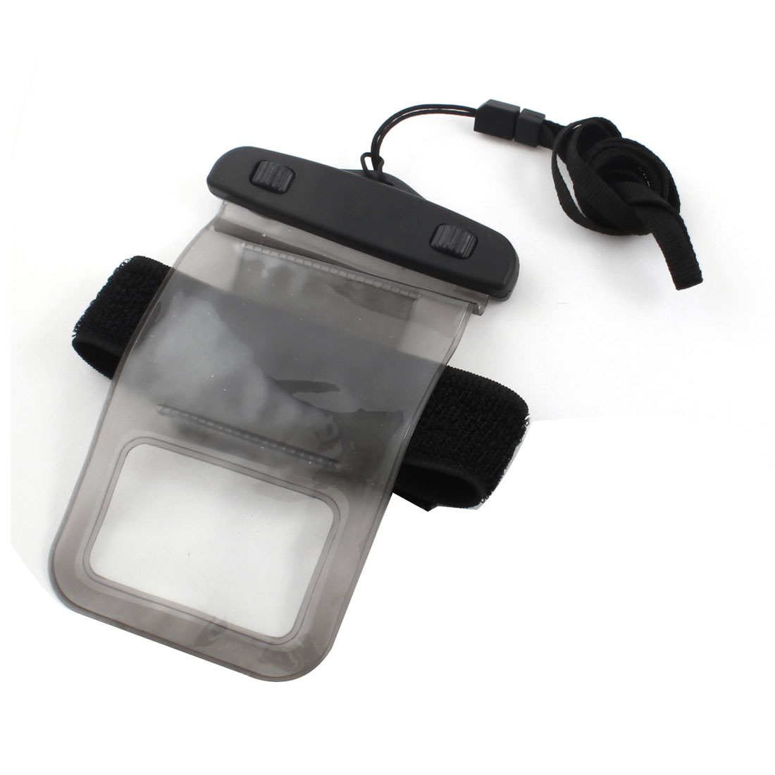 Clear Gray Waterproof Phone Smartphone Pouch Dry Bag Case w Neck Strap Armband