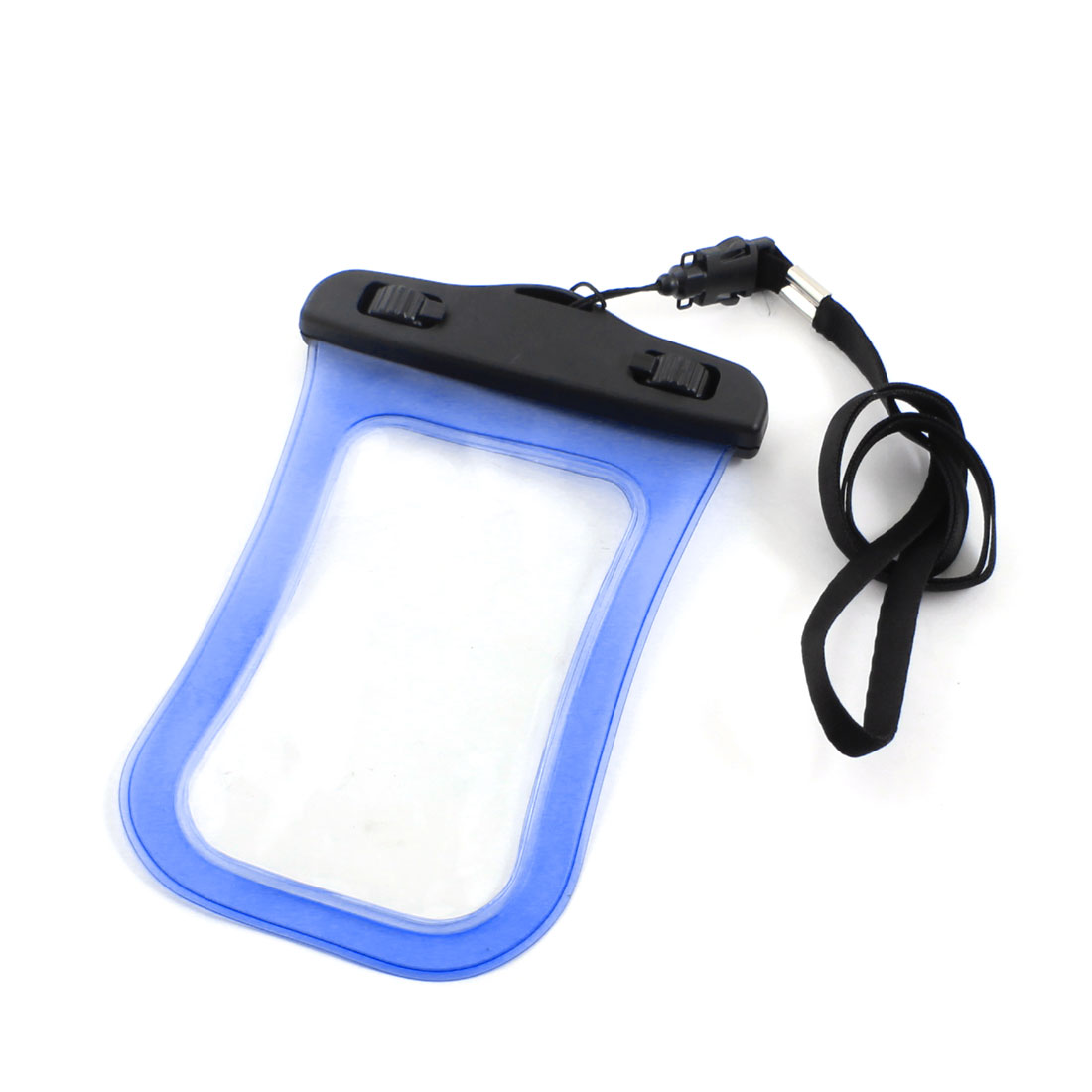 Clear Blue Waterproof Phone Smartphone Pouch Dry Bag Case w Neck Strap Armband