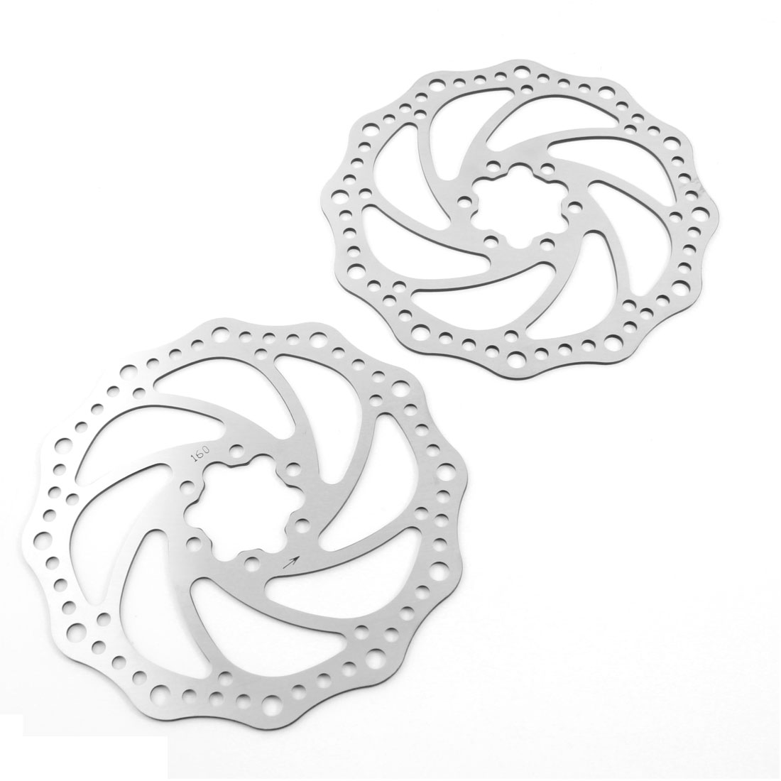 "2 Pcs Bicycle Bike Replacement Metal 6.3"" Diameter Rear Brake Disc Rotor"