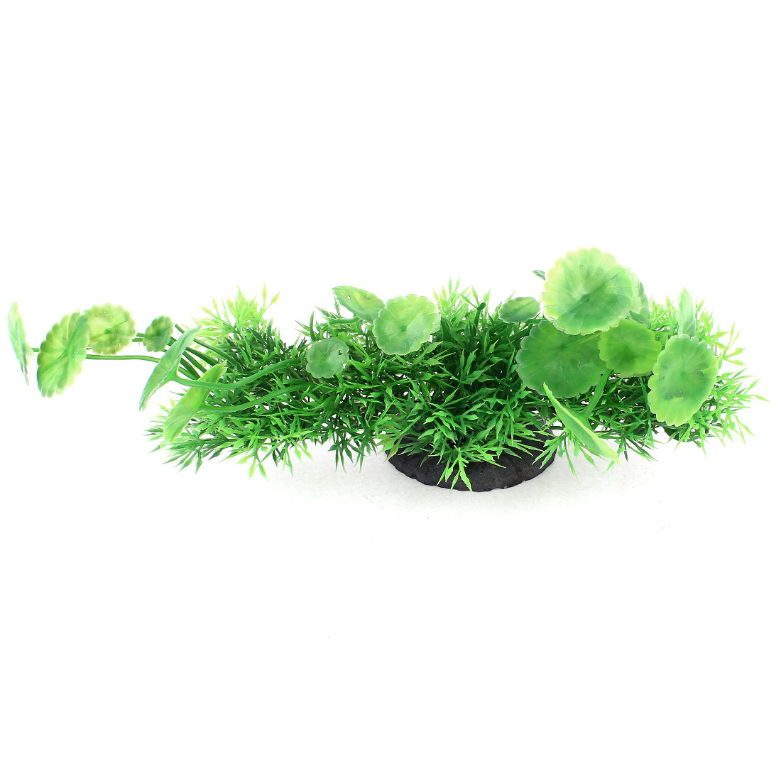 "Aquarium Underwater Plastic Artificial Grass Plant Decor Green 9"" Length"