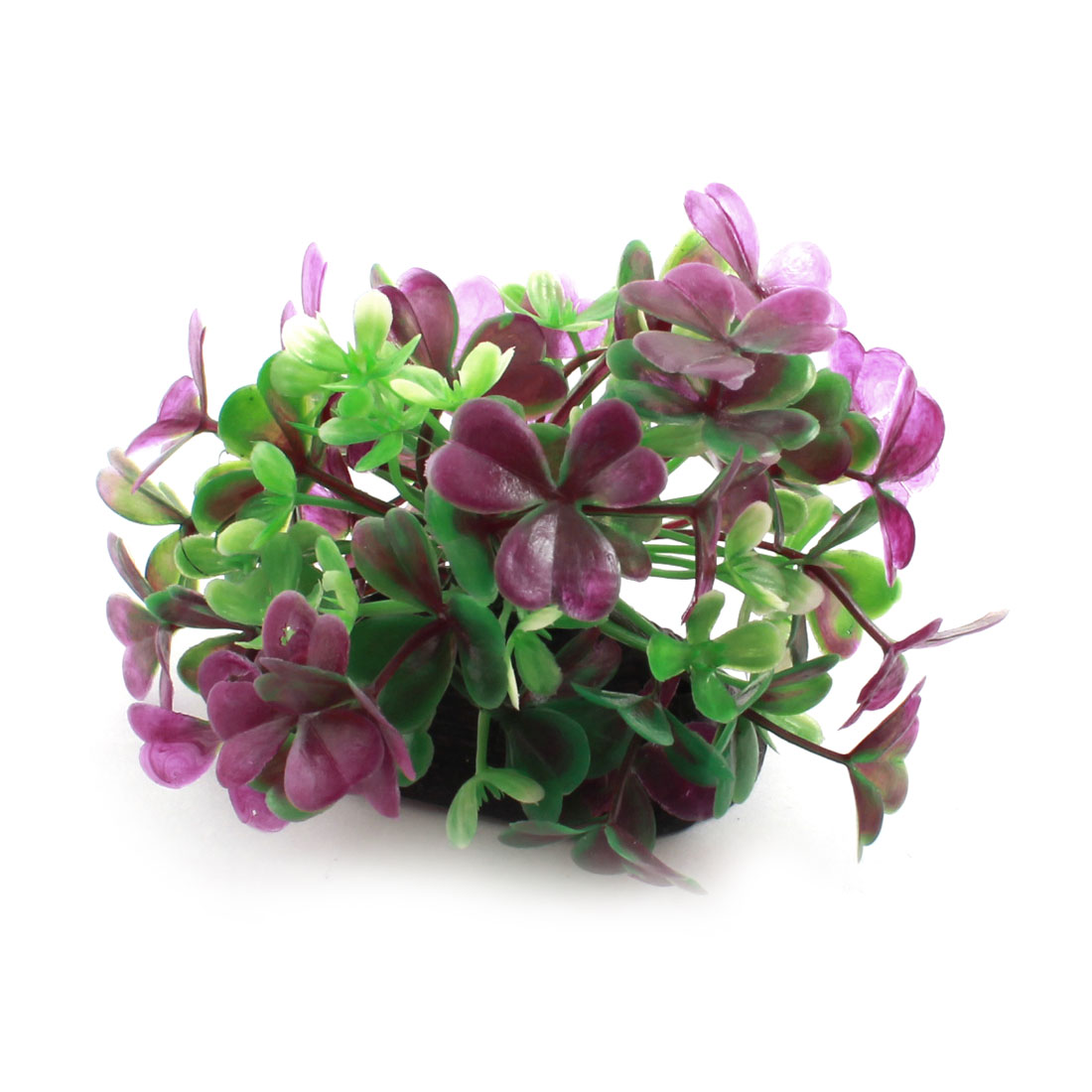"Aquarium Underwater Landscaping Plastic Grass Plant Decor Purple Green 3"" Height"
