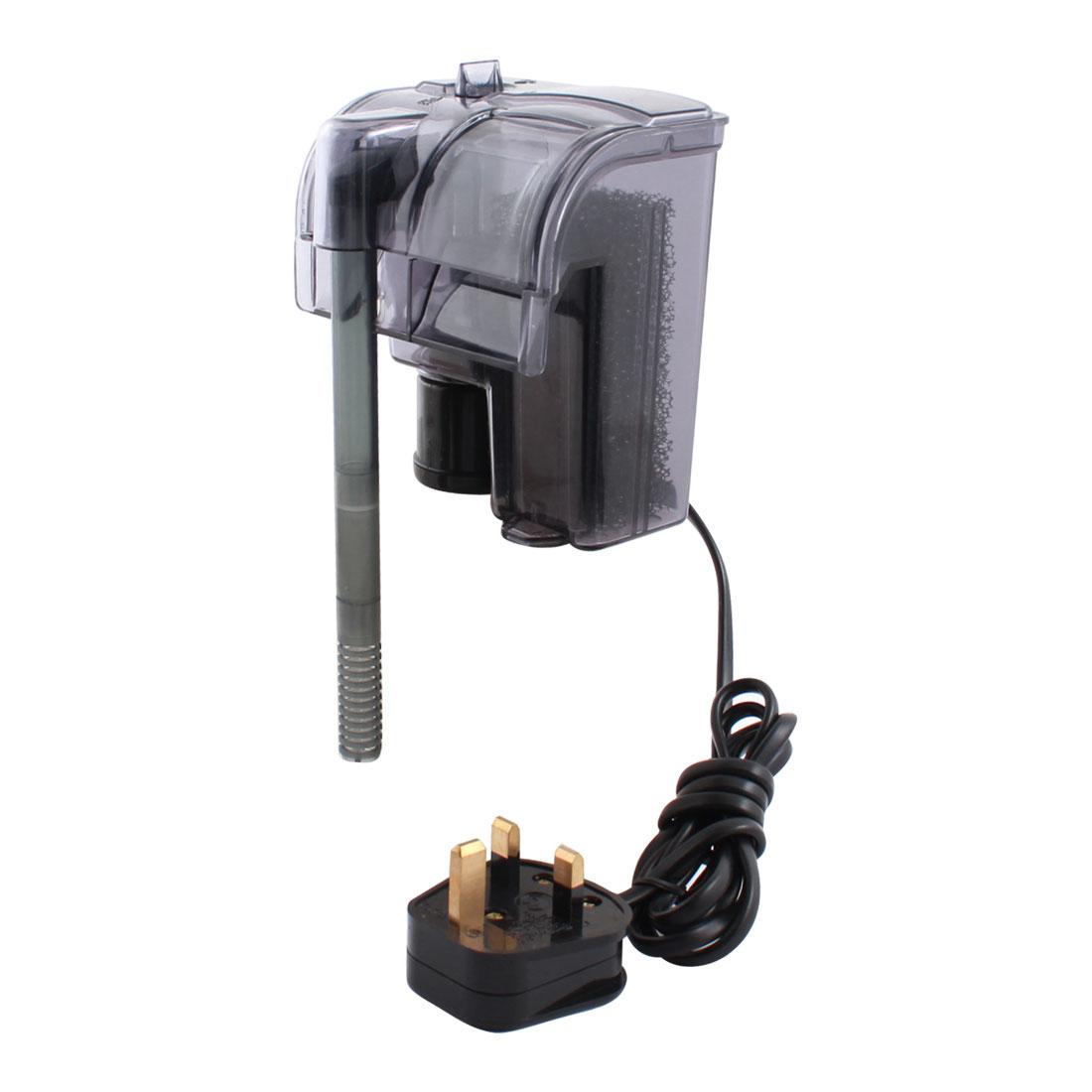 UK Plug AC 220-240V 185L/H Aquarium Internal Submersible Pump Filter