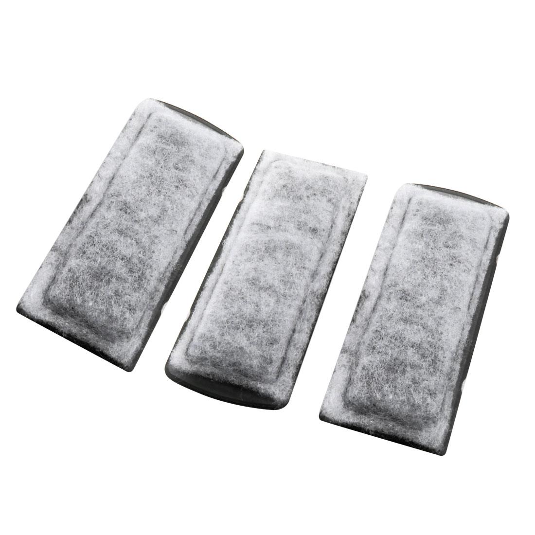 3 Pcs 13.5cm x 5cm x 1.3cm Rectangular Filter Sponge Pad Mat White for Fish Tank