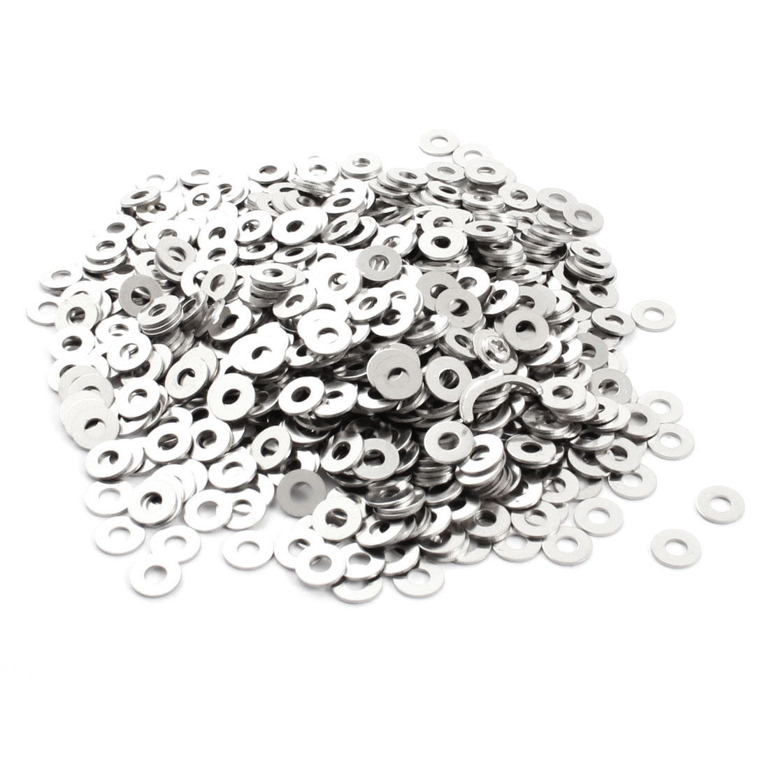 1000Pcs 3mm x 8mm x 0.6mm Circle Metal Washers Spacers Fasteners Rings