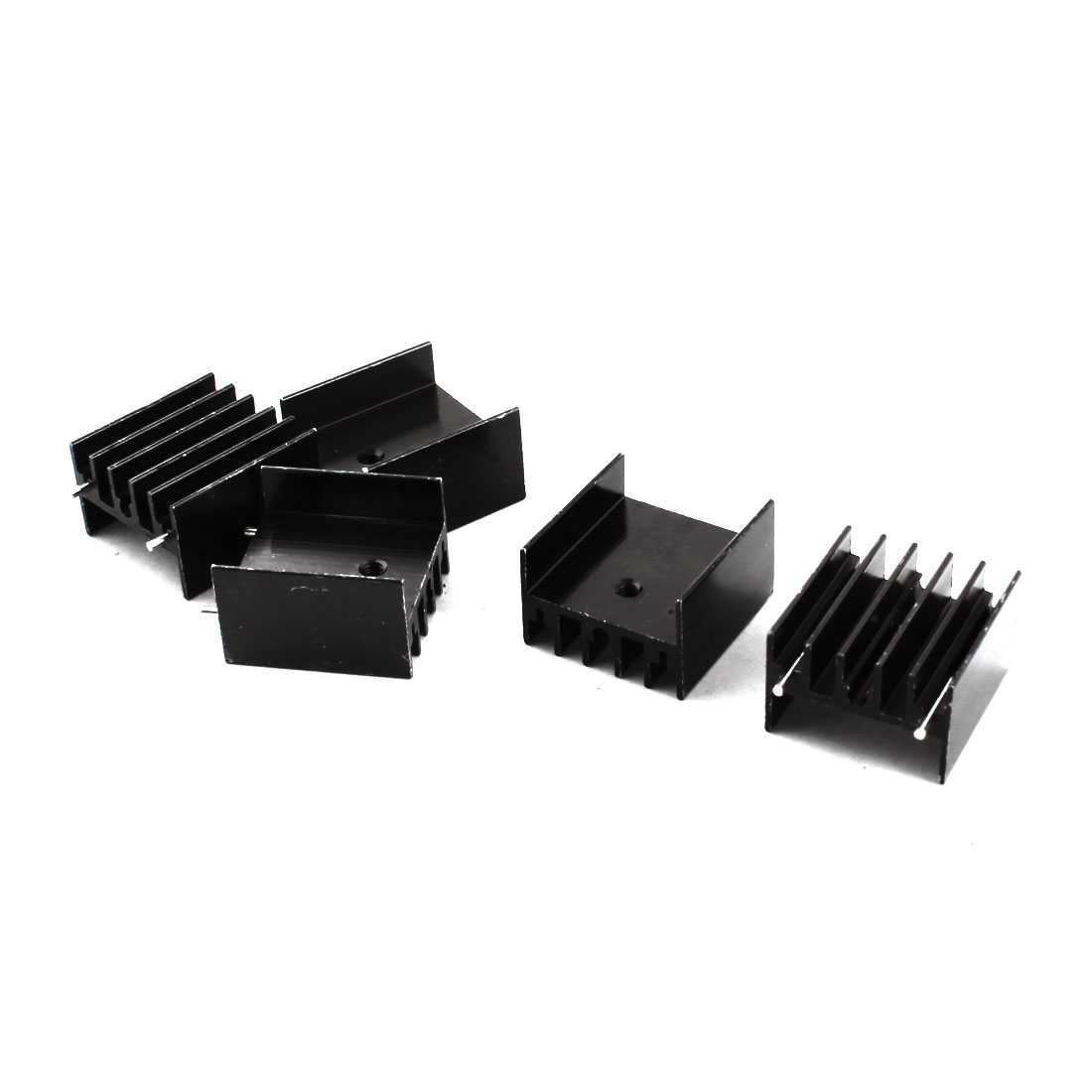 5Pcs Black Aluminum Cooler Cooling Fin Heat Sink Heatsink 23x16x25mm for PCB Board