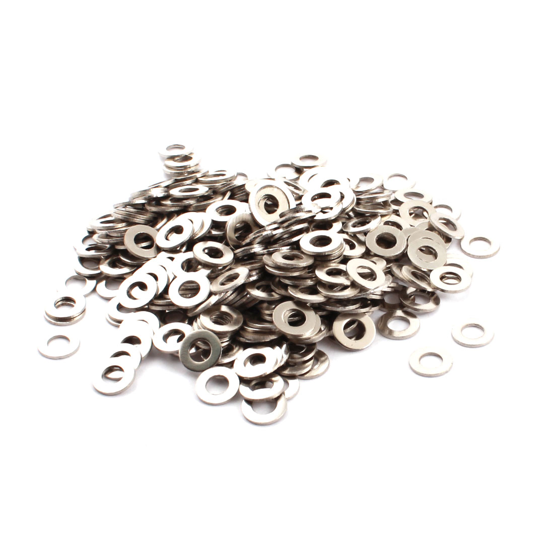 500Pcs Spare Parts 4mm x 8mm x 0.7mm Round Shaped Metal Washers Spacers Fasteners Rings