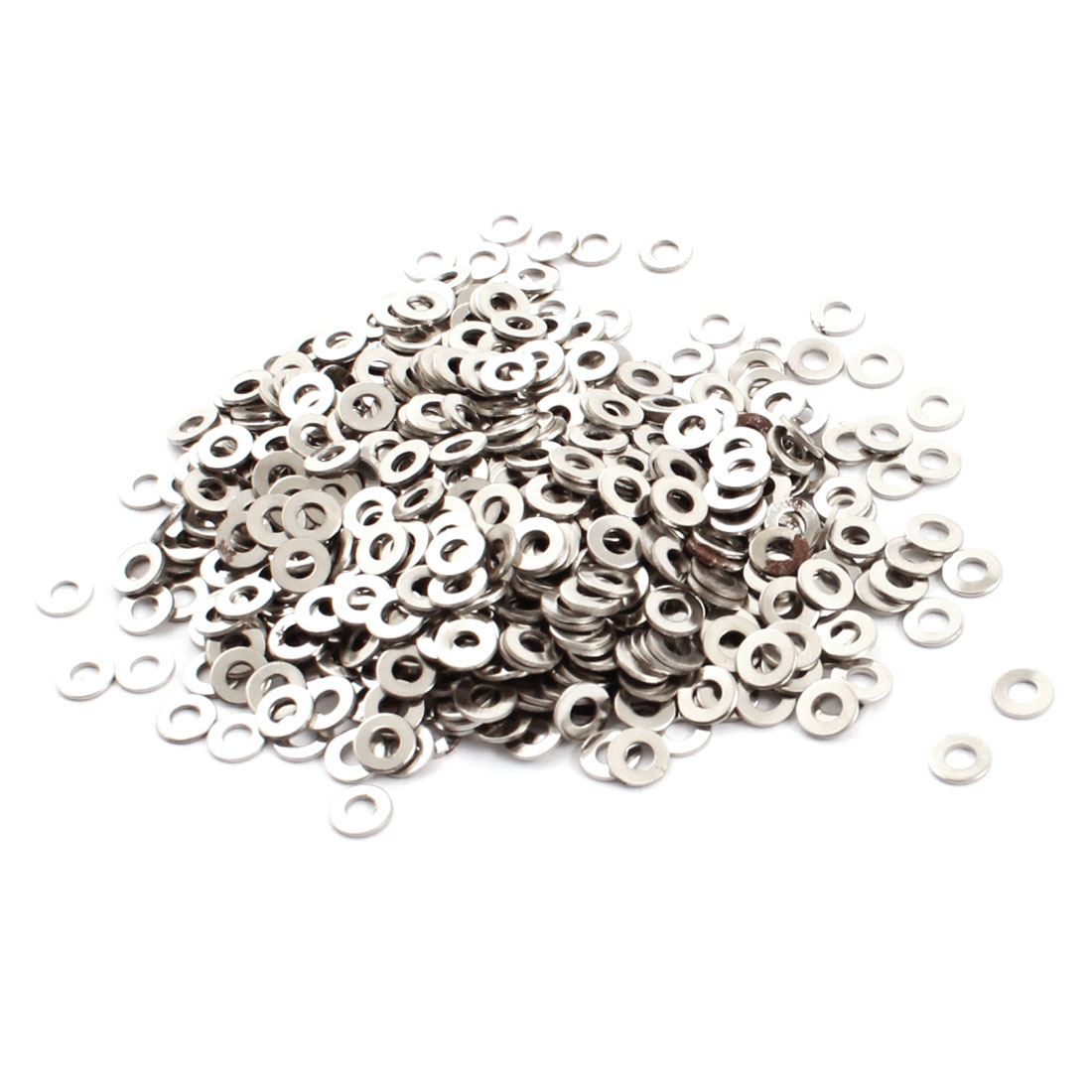1000Pcs Spare Parts 2mm x 4.5mm x 0.4mm Circle Metal Washers Spacers Rings Fasteners