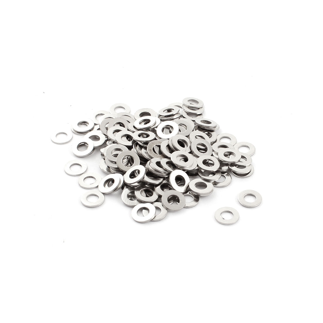 200Pcs Spare Parts 4mm x 8mm x 0.7mm Round Shaped Metal Washers Spacers Fasteners Rings