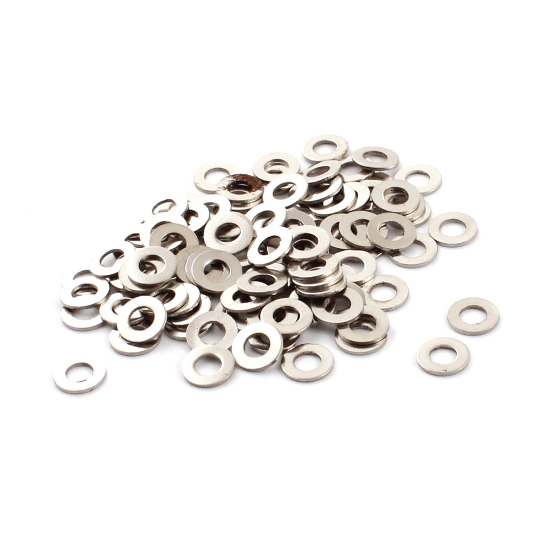 100Pcs Spare Parts 4mm x 8mm x 0.7mm Round Shaped Metal Washers Spacers Fasteners Rings