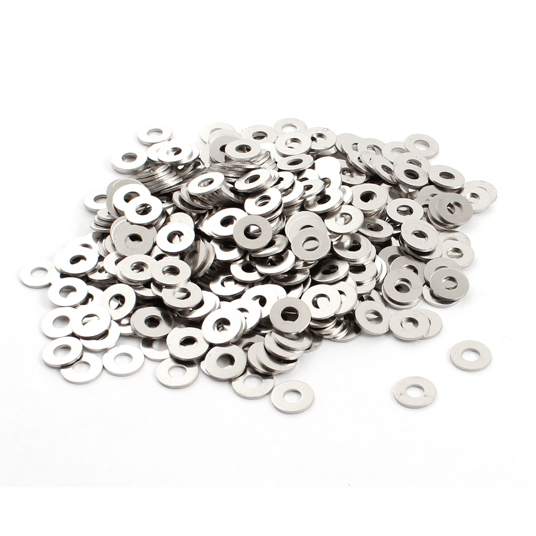 500Pcs 3mm x 8mm x 0.6mm Round Metal Washer Spacer Fasteners