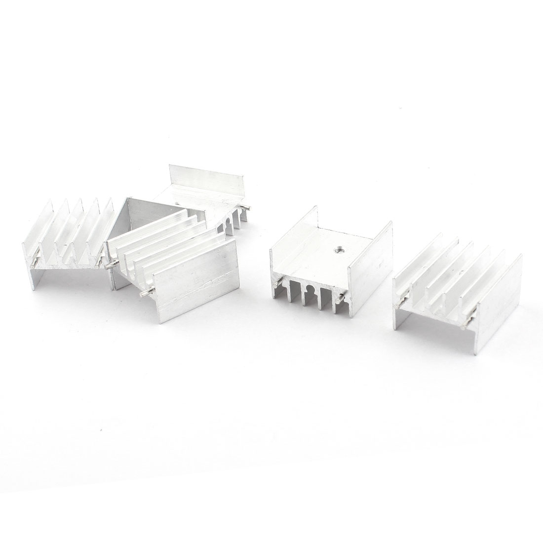 5pcs Spare Parts Aluminium Radiator Fin Cooling Cooler Heatsink Heat Sink 23x10x25mm w Needle for PCB Board