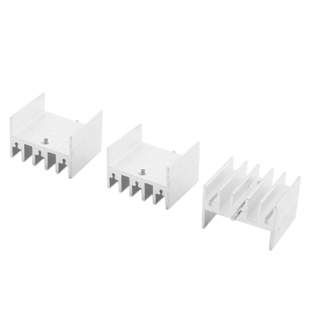 3pcs 23x16x20mm Aluminium Radiator Cooler Heatsink Heat Sink Cooling Fin + Needle for PCB Board