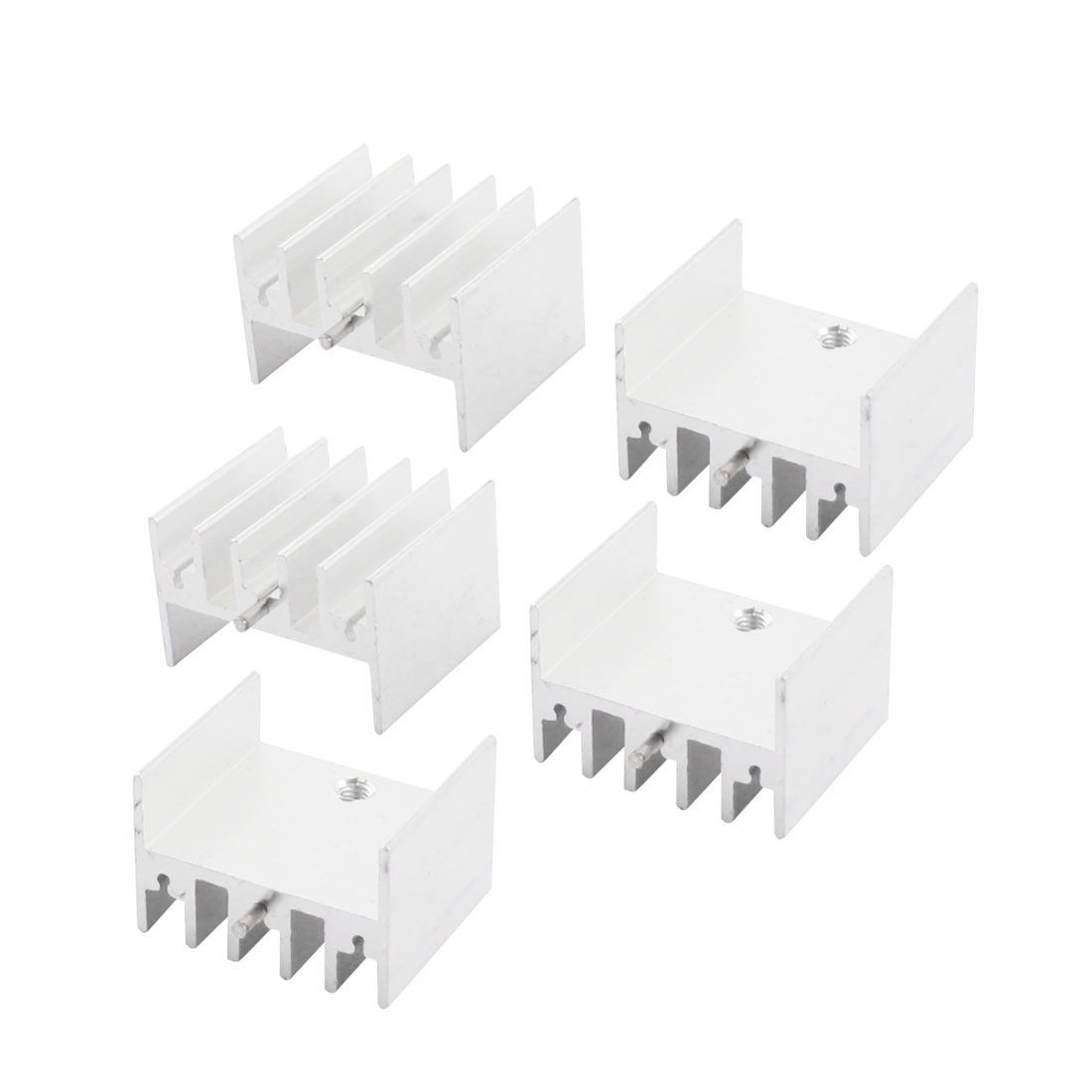5Pcs 23x16x20mm Aluminium Radiator Fin Cooling Cooler Heatsink Heat Sink w Needle for PCB Board